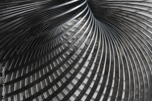 Printed kitchen splashbacks Spiral Metall Spirale, Schärfentiefe