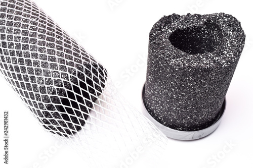 Photo Carbon water filter cartridge isolated on white