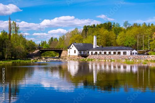 Photo sur Aluminium Riviere Vantaankoski view, Vantaa, Finland