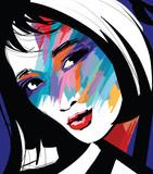 portret twarzy kobiety - 242984811