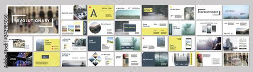 Fototapeta Original Modern Presentation templates or booklet. Easy Use in flyer and style info banner, trendy strategy mockup. Creative Slideshow or Startup. ppt. obraz na płótnie