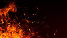 Realistic Isolated Fire Effect...