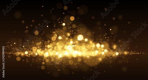 Fototapeta Golden light dust background obraz na płótnie