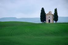 Vitaleta Chapel, Tuscany, Italy
