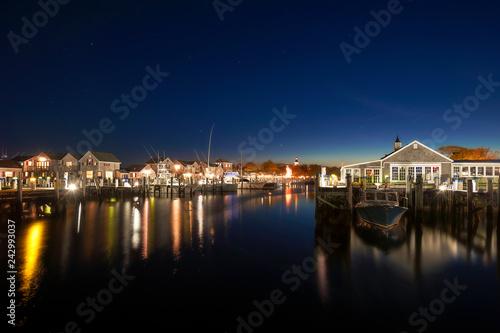 Fotografía  Harbor Ferry Stary Night Nantucket Island