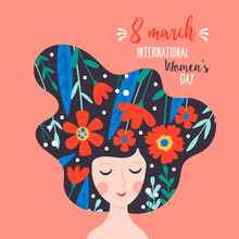 Women's Day Cute Greeting Card...