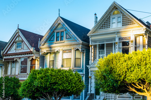 Fotografie, Tablou  Victorian and Edwardian style houses in San Francisco, California