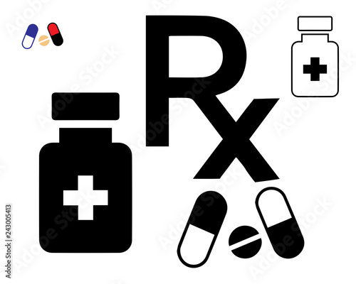 Icon-RX Prescription Canvas-taulu