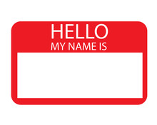 Template-Sticker Name Tag