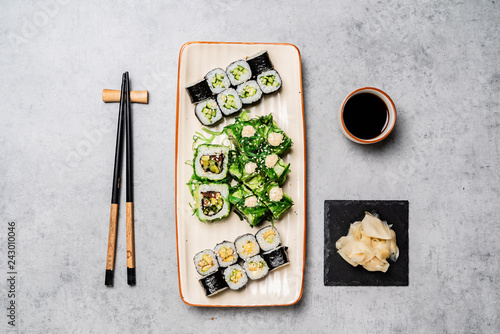 sushi on the concrete background Canvas