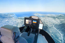 Pilot View From Inside A Helic...
