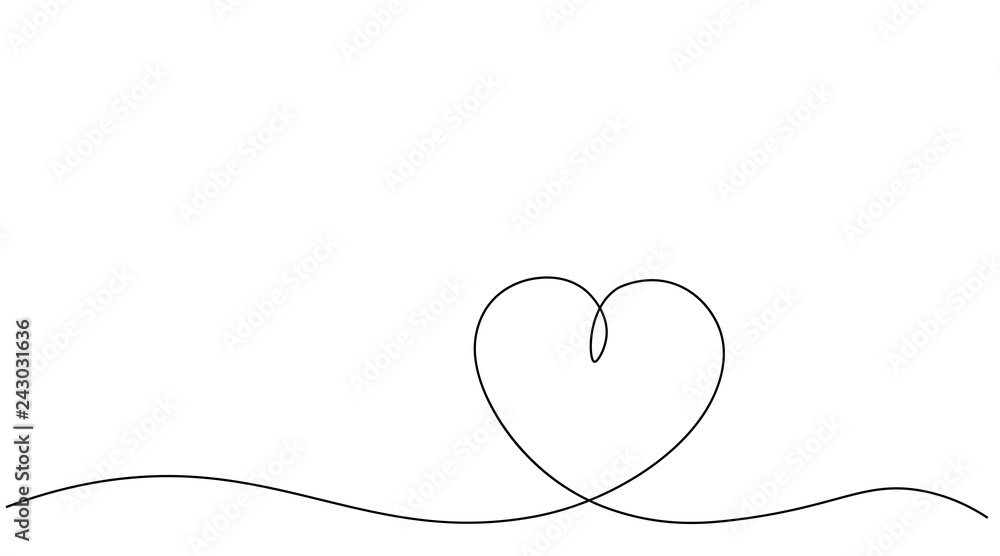 Fototapeta Valentines day heart background vector illustration.