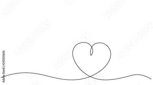 Valentines day heart background vector illustration. Canvas Print