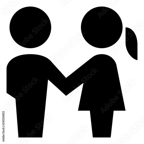 Photo  Man And Woman Holding Hands Vector Icon