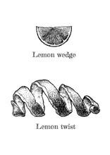 Lemon Twist And Wedge