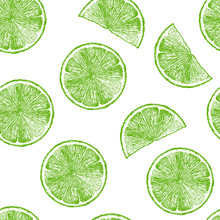 Pattern With Lime Wedges