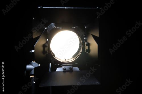 Fotografie, Obraz  Floodlight with halogen lamp and Fresnel lens