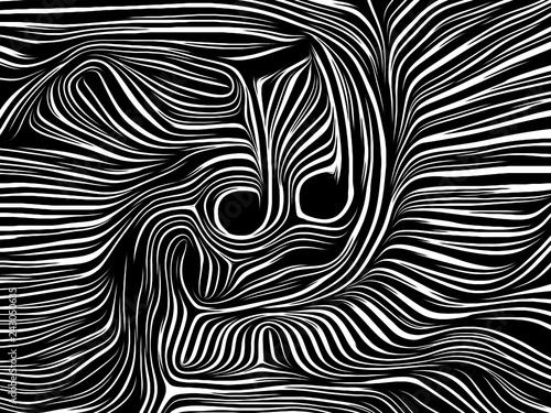 Fotografie, Obraz  Music Note Woodcut