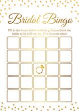 Bridal Bingo Card Template. Br...