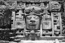 Temple Of The Masks, Laminai Mayan Site, Belize