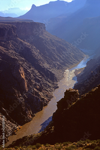 Fotografie, Obraz  View of Hermit Rapid on the Colorado River, Grand Canyon National Park