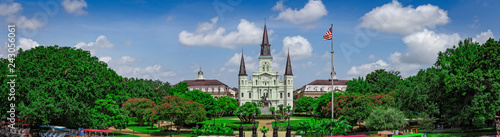 Panoramic view of Jackson Square in New Orleans, Louisiana, USA Wallpaper Mural