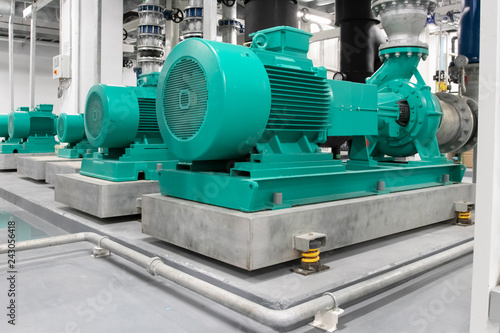 Tela Typical installation of chiller pump in equipment room