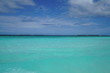 Amazing turquoise water view along a beach in the Maldives