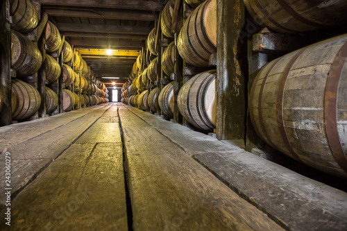 Barrels of Whiskey Fototapete