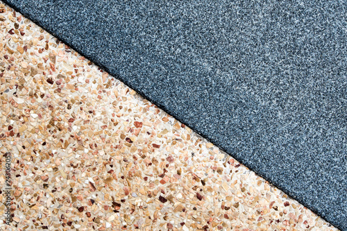 Texture of the granite remnants finish and exposed aggregate finish flooring Canvas Print