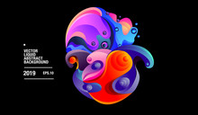 Vector Colorful Abstract Liquid And Fluid For Landing Page And Presentation Template