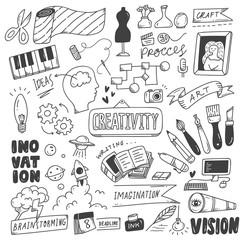 Set of creativity doodles