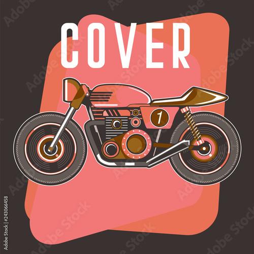 Leinwand Poster cafe racer , retro , motor , speed . - Vector