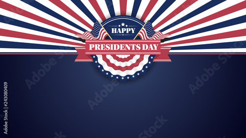 Canvas Print Happy Presiidents Day Banner Background and Greeting Cards