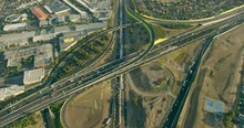 Aerial View At Sunrise Along Tullamarine Freeway Melbourne