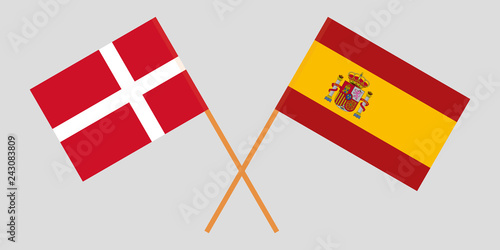 Photo  Spain and Denmark