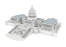 United States Capitol Building Isolated