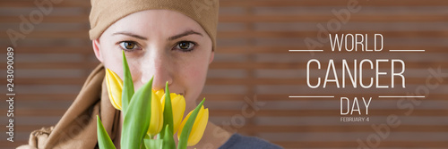 Fotografía World Cancer Day Banner