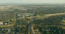 Aerial Sunrise View Western Ring Road Interchange Melbourne