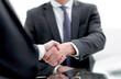 close up. handshake business people