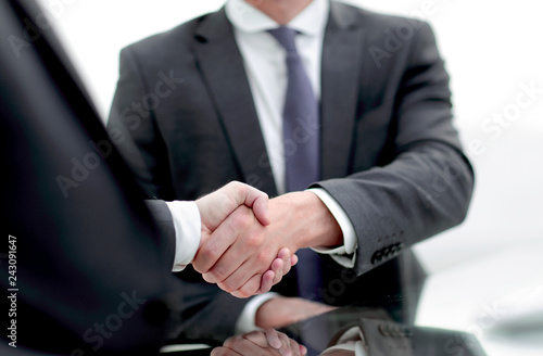 close up. handshake business people