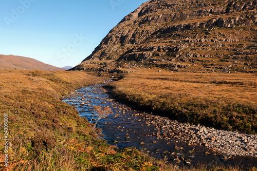 Photo  River in Glen Torridon in Scottish Highlands