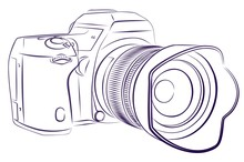 Digital Camera Sketch.