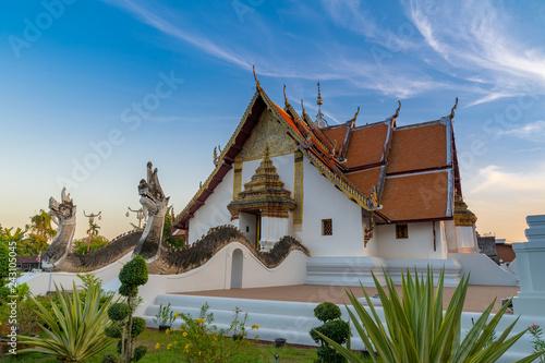 Keuken foto achterwand Asia land Wat Phumin is a famous temple in Nan province, Thailand.