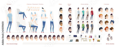 Fotografija Young man character for your print, web and motion design