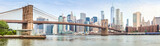 Fototapeta Panels - Amazing panorama view of New York city and Brooklyn bridge