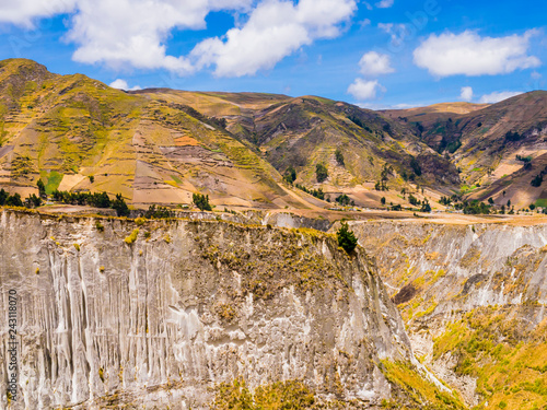 Poster Zuid-Amerika land Ecuador, stunning view of Toachi river canyon, on the road between Zumbahua and Quilotoa lagoon