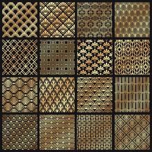 Art Deco Patterns. Decorative Golden Lines, Angular Line Frame And 1920 Arts Gold Pattern Vector Set