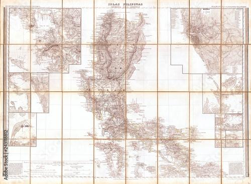 Photo  1852, Coello, Morata Case Map of the Philippines