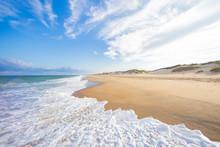 Ocean Beach Waves  And Sand Du...